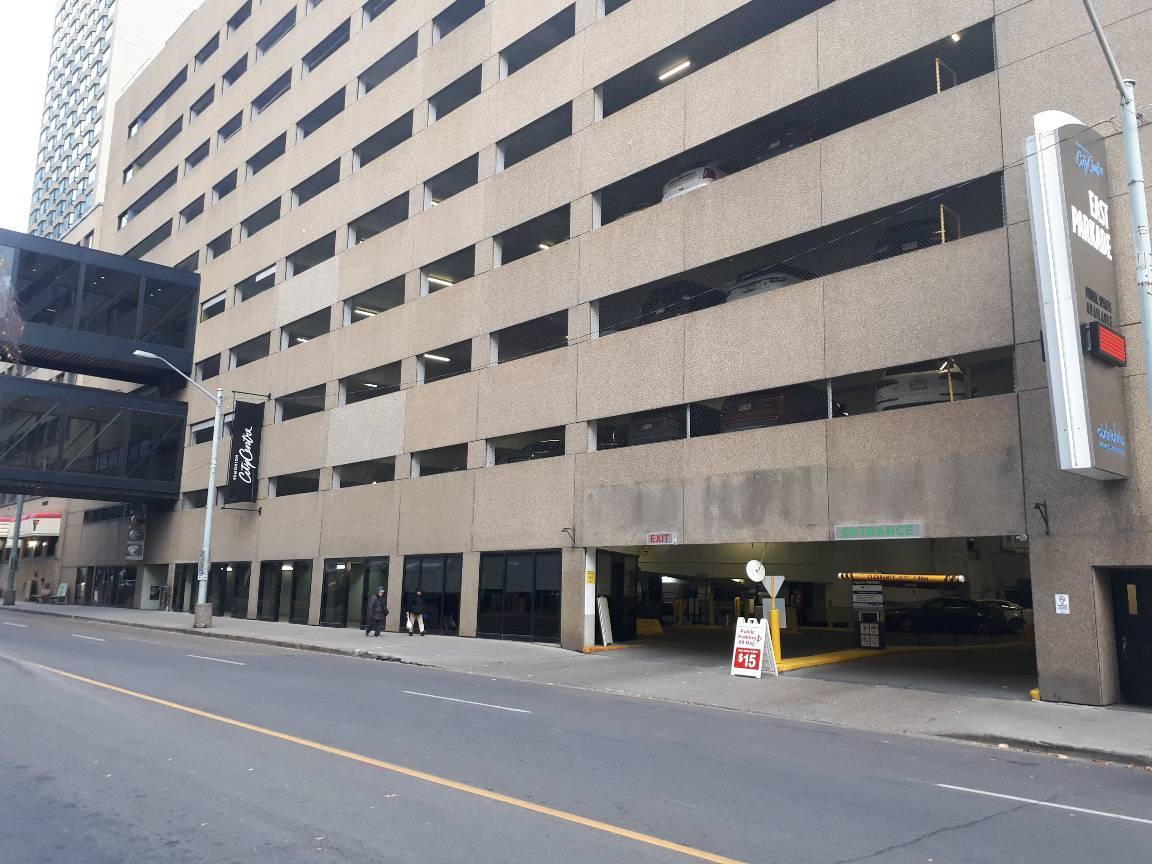 Advanced Parking Lot 1 Entrance - City Centre East Parkade