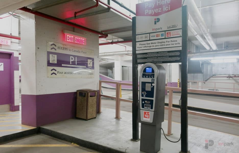 Canada Place Parkade Pay Station Edmonton Parking Guide