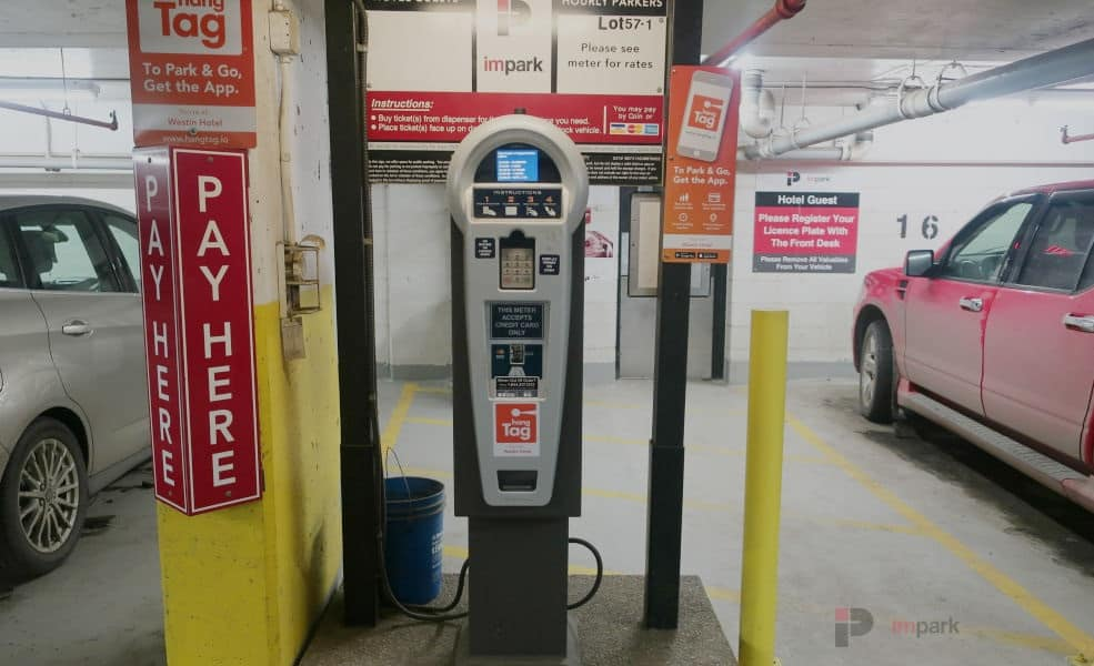 Westin Hotel Parkade Pay Station Edmonton Parking Guide