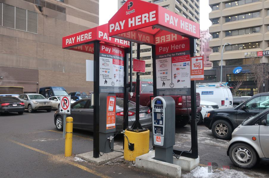 World Trade Centre Parking Lot Pay Station Edmonton Parking Guide