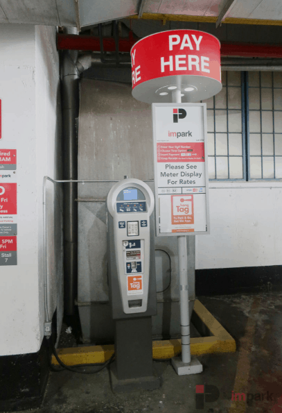 102nd Street parkade pay station outdoor Edmonton Parking Guide