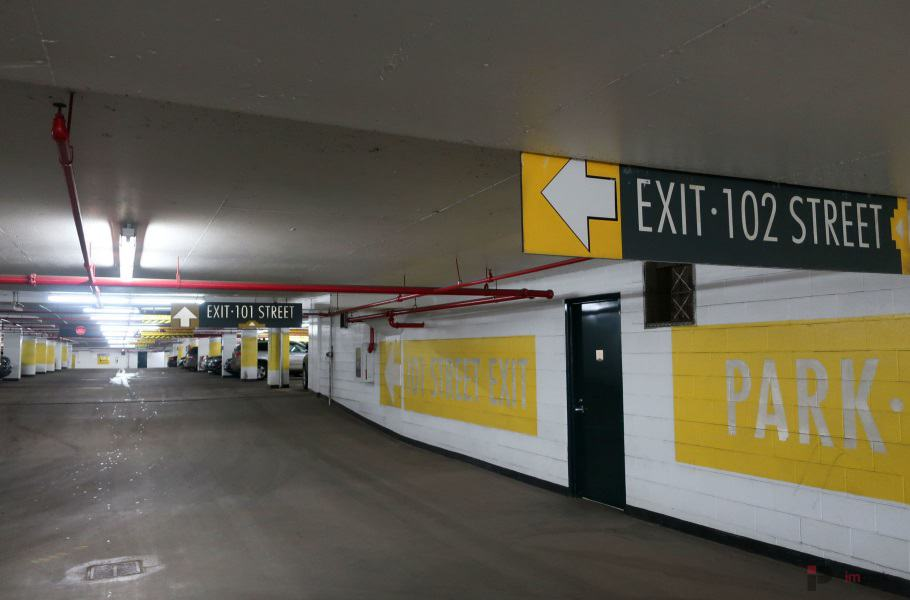 Commerce Place Parkade Wayfinding Edmonton Parking Guide