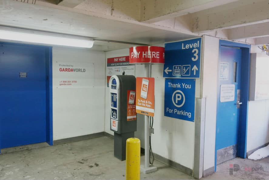 Rice Howard Parkade Pay Station 2 Edmonton Parking Guide