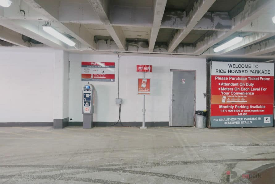Rice Howard Parkade Pay Station Main Floor Edmonton Parking Guide