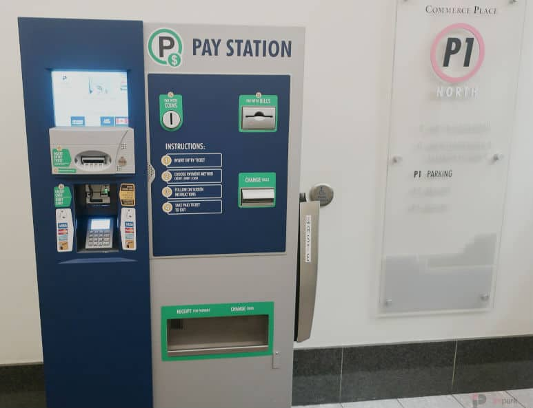 Commerce Place Parkade North Pay Station Edmonton Parking Guide