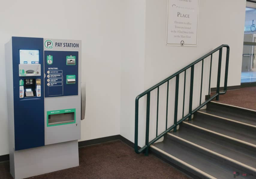 Commerce Place Parkade South Pay Station Edmonton Parking Guide