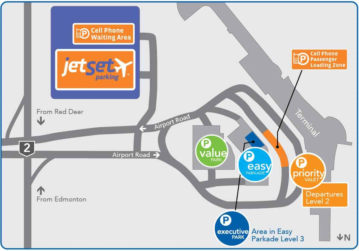 Edmonton Airport Map 2