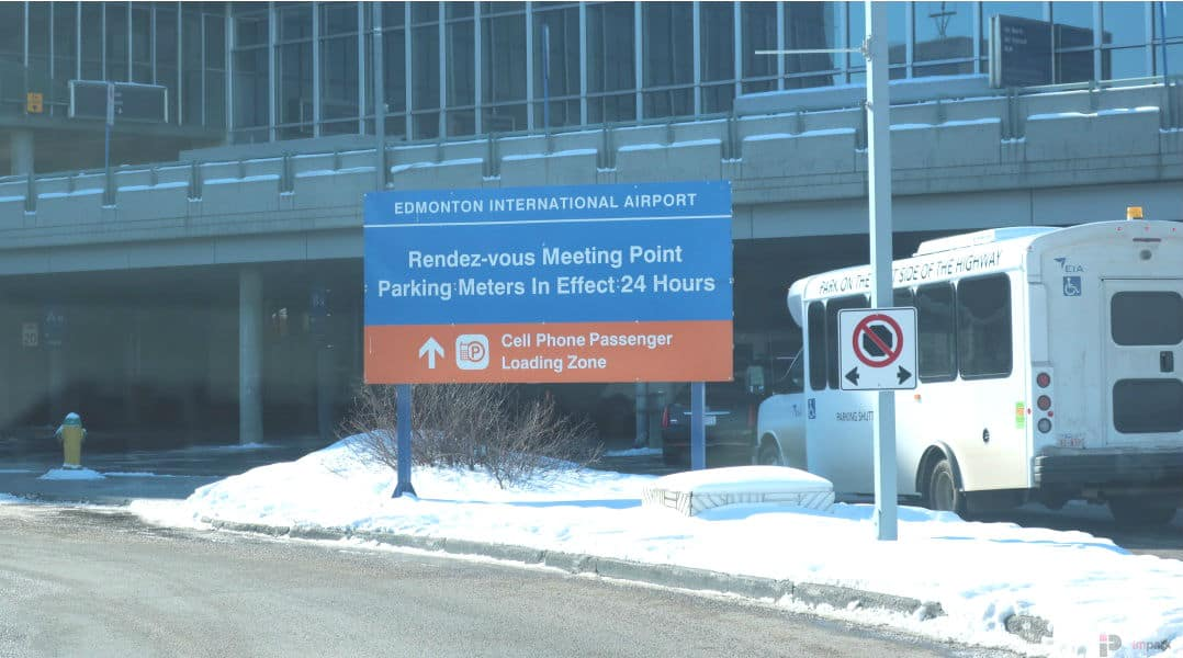 Rendez-Vous Meeting Point Sign Edmonton Parking Guide