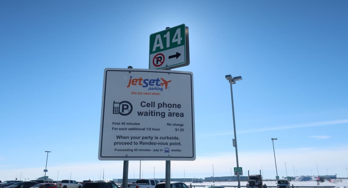 jetSet Cell Phone waiting area Edmonton Parking Guide