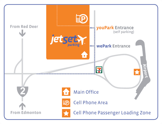 jetSet Parking Map