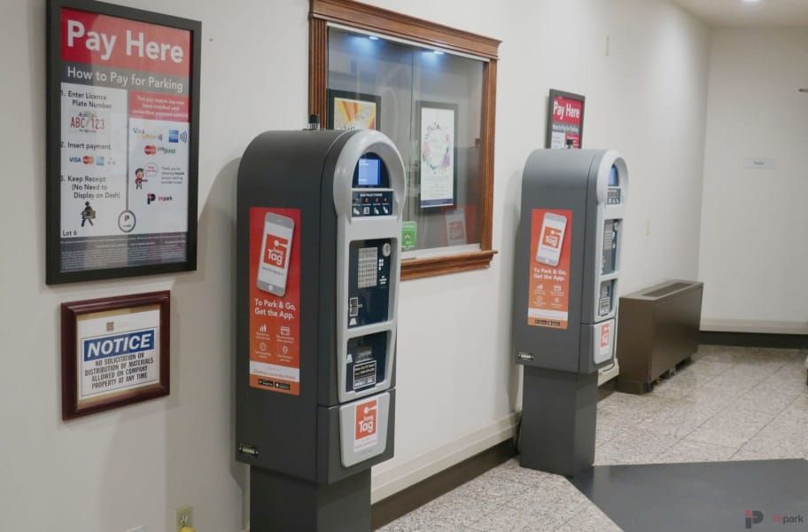 Chateau Lacombe Hotel Parkade Lobby Pay Station Edmonton Parking Guide