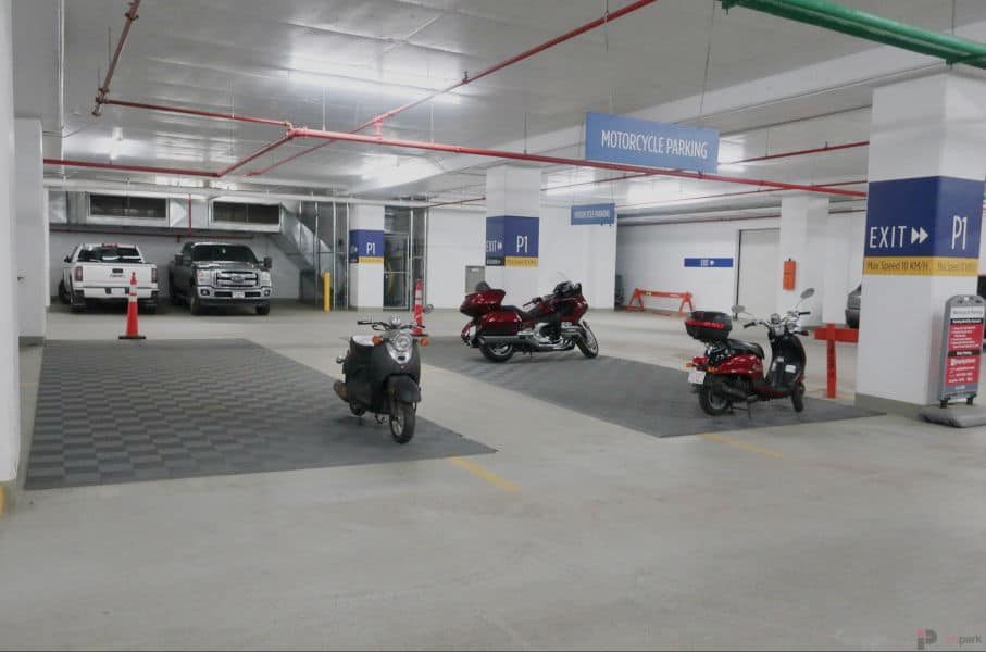 Epcor Tower Parkade Motorcycle Parking Edmonton Parking Guide
