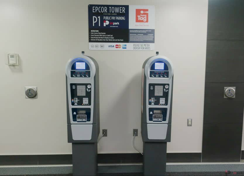 Epcor Tower Parkade Pay Station P1 Edmonton Parking Guide