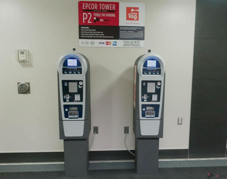 Epcor Tower Parkade Pay Station P2 Edmonton Parking Guide