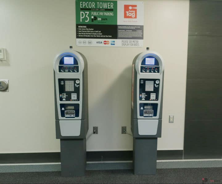 Epcor Tower Parkade Pay Station P3 Edmonton Parking Guide