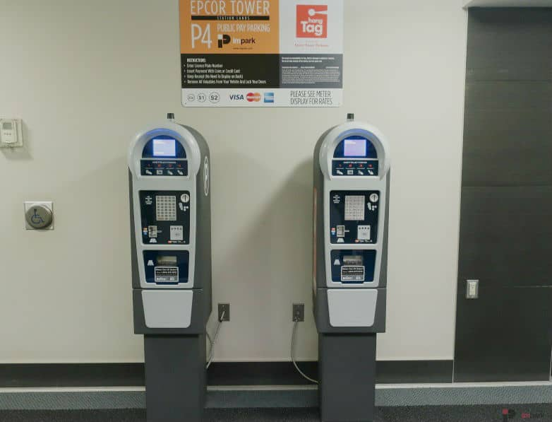 Epcor Tower Parkade Pay Station P4 Edmonton Parking Guide