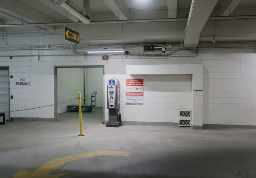 College Plaza Parkade Pay Station 2 Edmonton Parking Guide