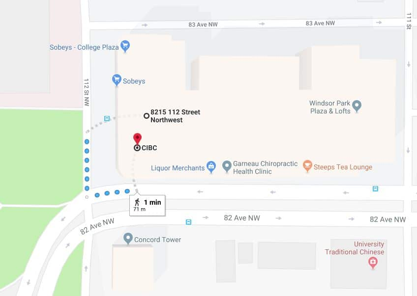 College Plaza Parkade to CIBC Edmonton Parking Guide