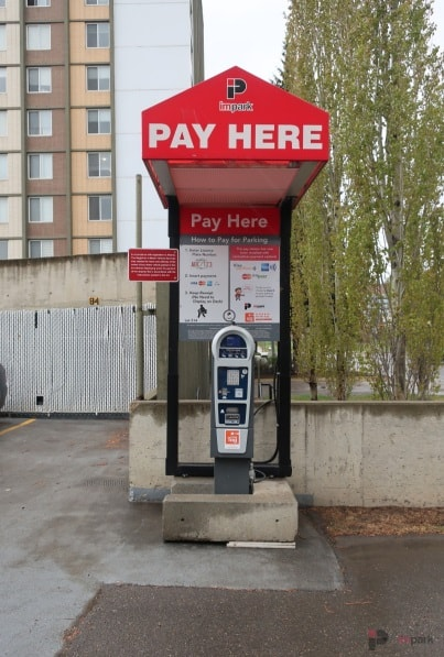 Concord Tower Surface Parking Lot Pay Station Edmonton Parking Guide