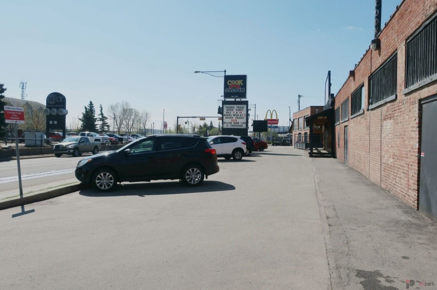 Cook County Saloon Surface Parking Lot Entrance Edmonton Parking Guide