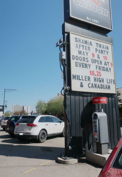 Cook County Saloon Surface Parking Lot Pay Station 2 Edmonton Parking Guide