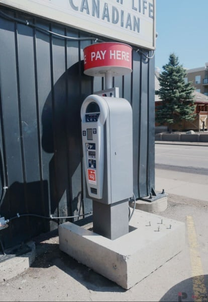 Cook County Saloon Surface Parking Lot Pay Station Edmonton Parking Guide