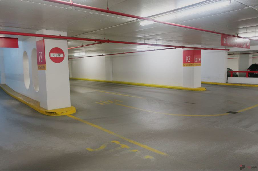 Epcor Tower Parkade Exit Edmonton Parking Guide