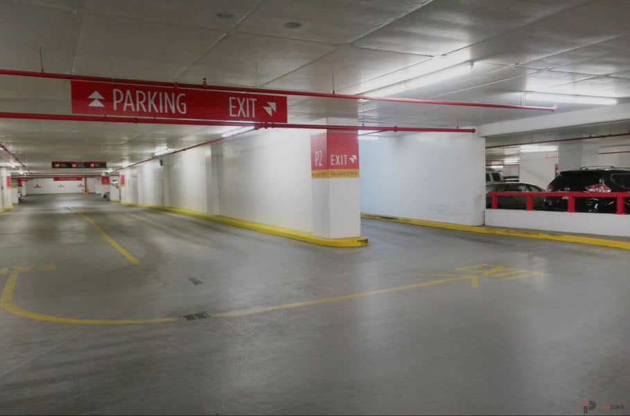 Epcor Tower Parkade Exit Lane Edmonton Parking Guide