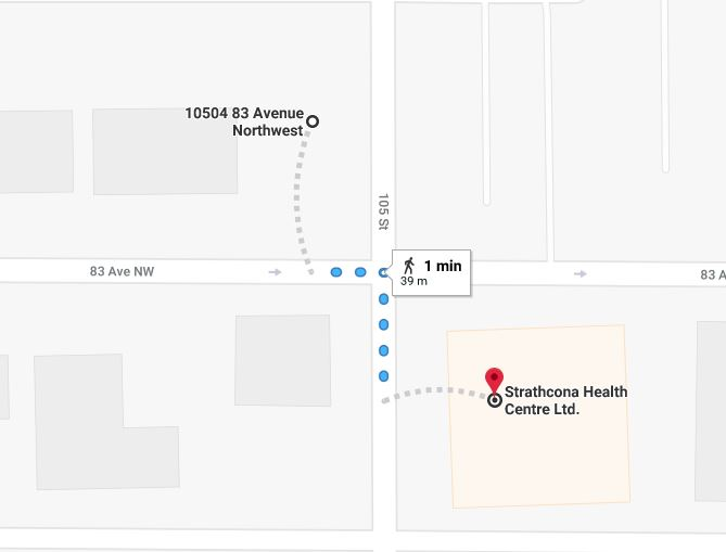 Old Strathcona Medical East Lot to Strathcona Health Centre Edmonton Parking Guide