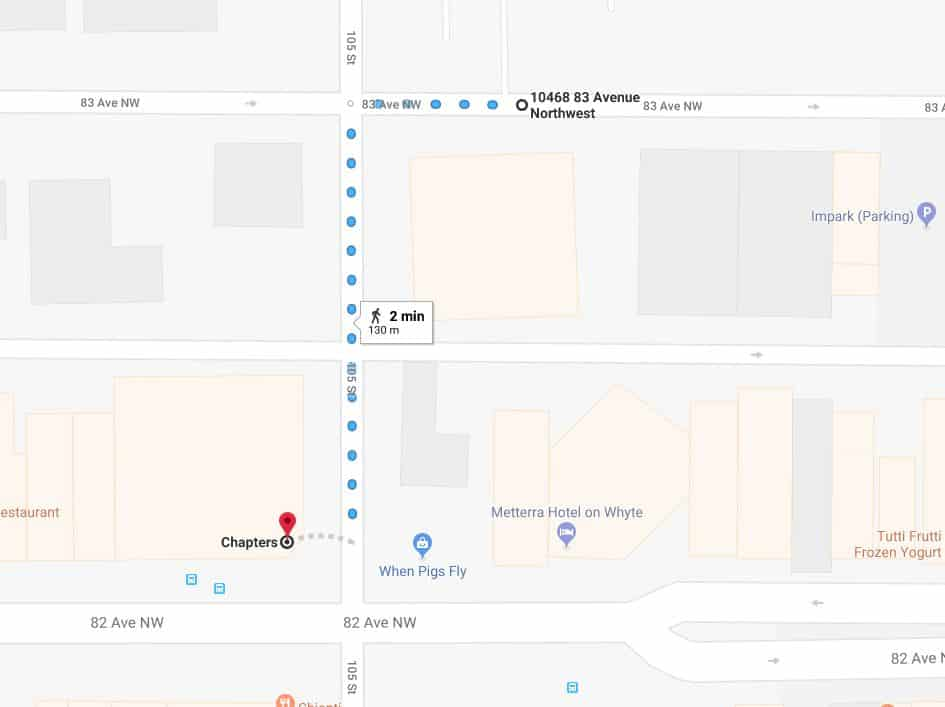 Old Strathcona Medical North Lot to Chapters Edmonton Parking Guide