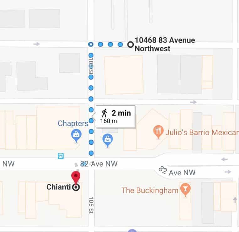 Old Strathcona Medical North Lot to Chianti Edmonton Parking Guide