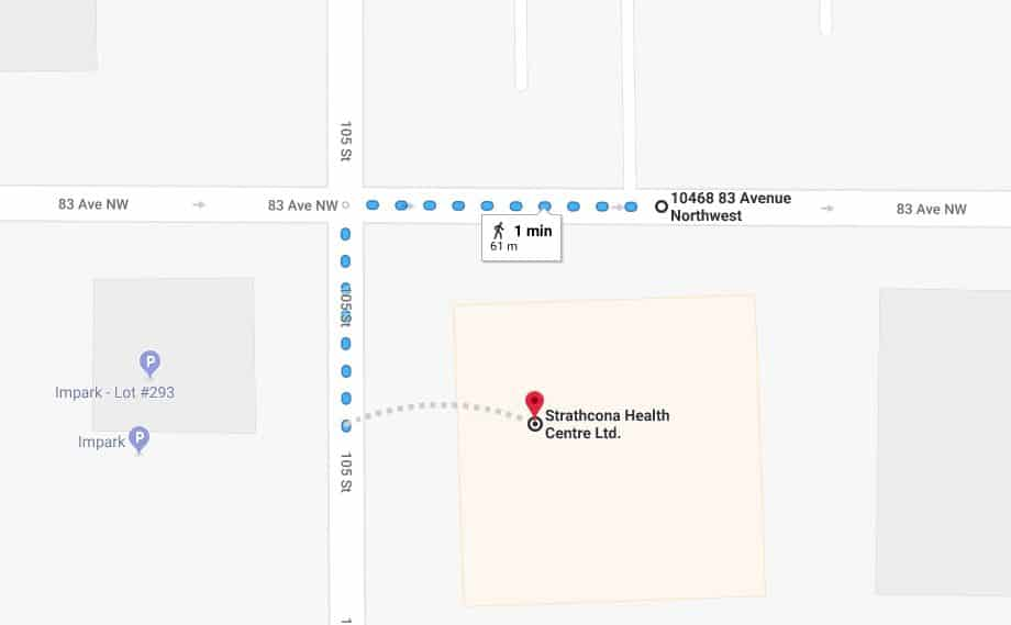 Old Strathcona Medical North Lot to Strathcona Health Centre Edmonton Parking Guide