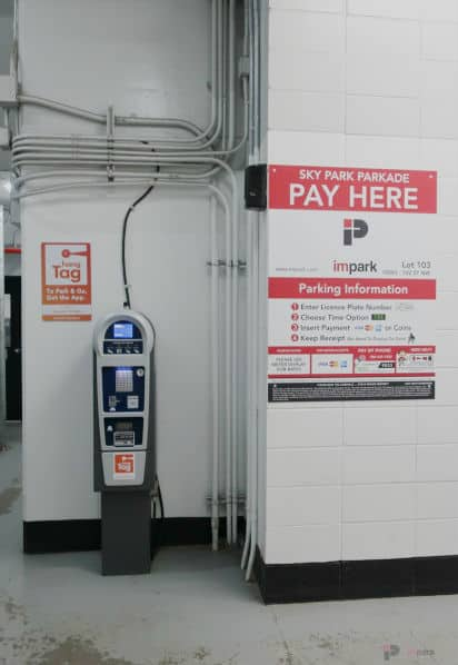 Skypark Parkade Pay Station Edmonton Parking Guide