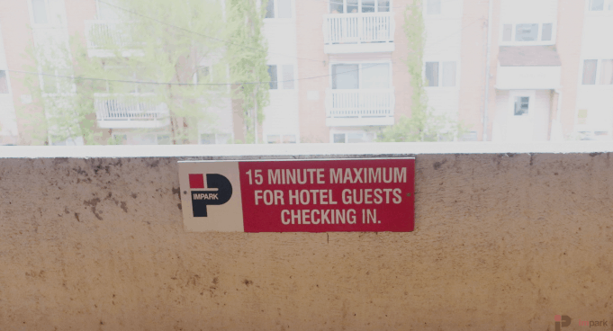 Varscona Hotel Parkade Sign Edmonton Parking Guide