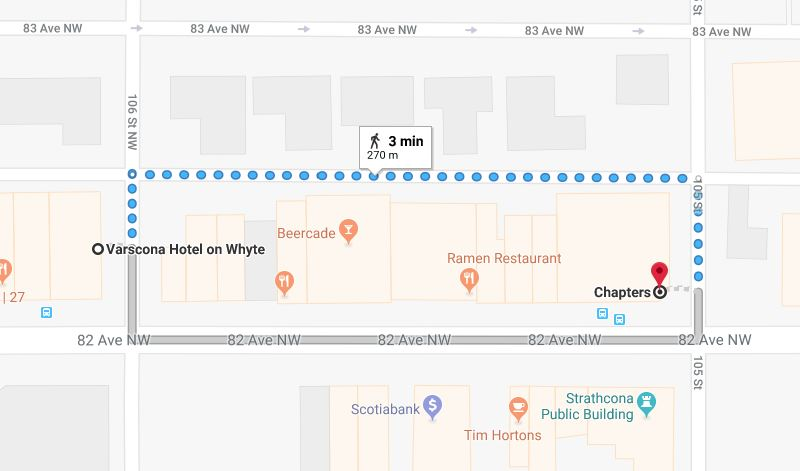 Varscona Hotel Parkade to Chapters Edmonton Parking Guide
