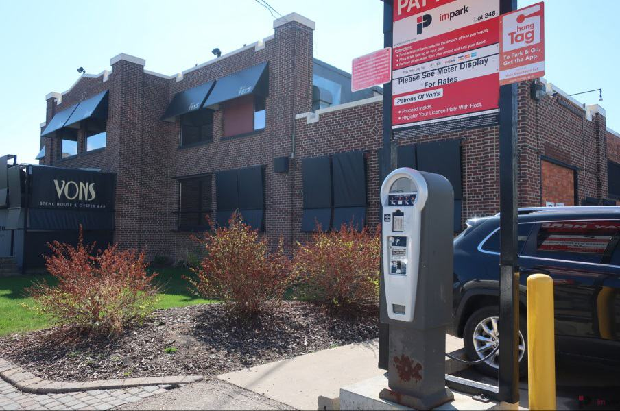 Vons Steakhouse Surface Parking Lot Pay Station Edmonton Parking Guide