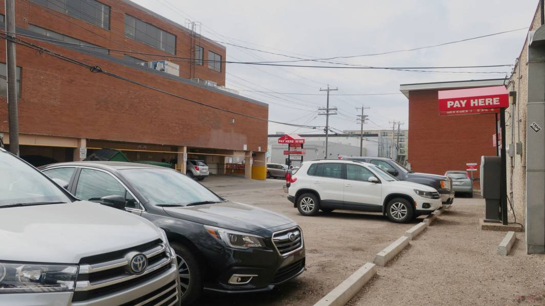Whyte Avenue Chapters North Lot Stalls Edmonton Parking Guide