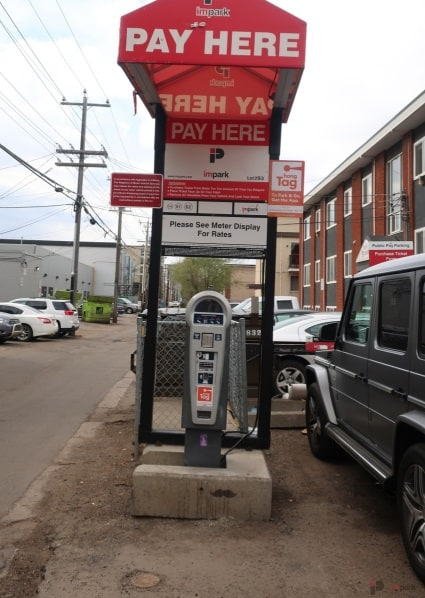 Whyte Avenue Chapters West Lot Pay Station Edmonton Parking Guide
