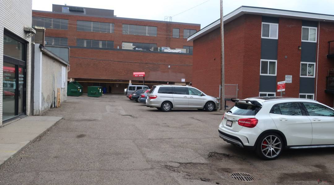 Whyte Avenue Chapters West Lot Stalls Edmonton Parking Guide