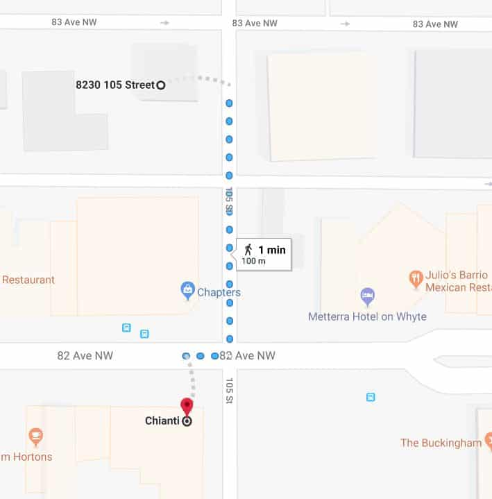 Whyte avenue Chapters West Lot to Chianti Edmonton Parking Guide