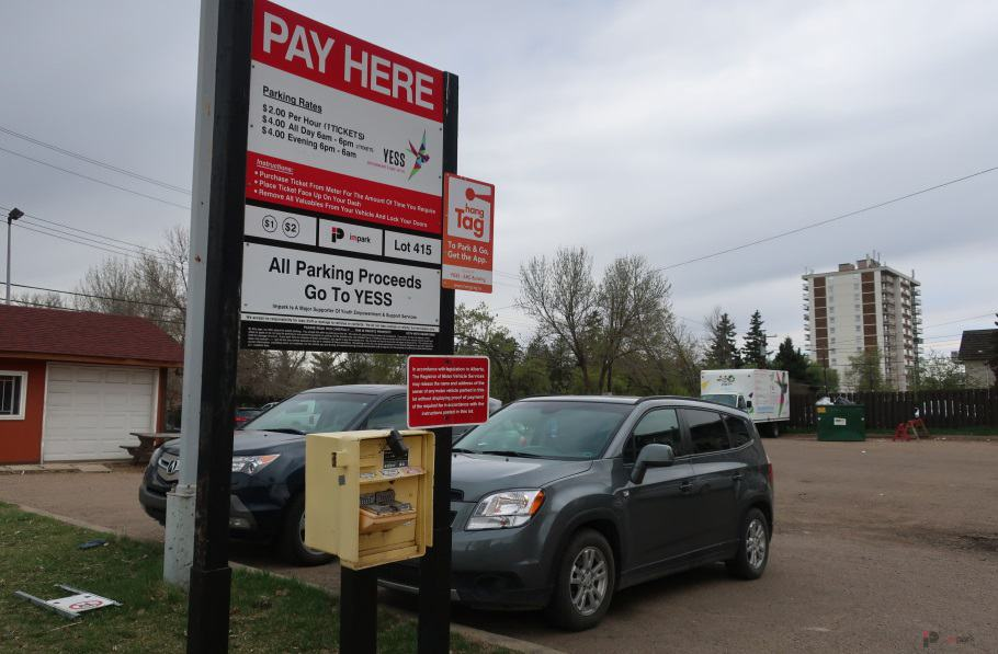 YESS Surface Parking Lot Pay Station 2 Edmonton Parking Guide