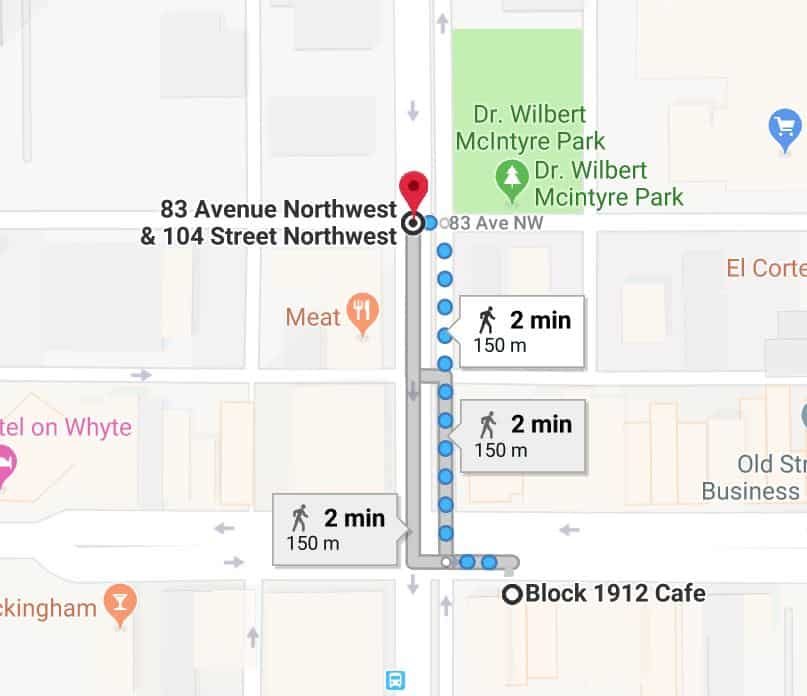 Block 1912 Cafe to Edmonton Fringe Festival Edmonton Parking Guide