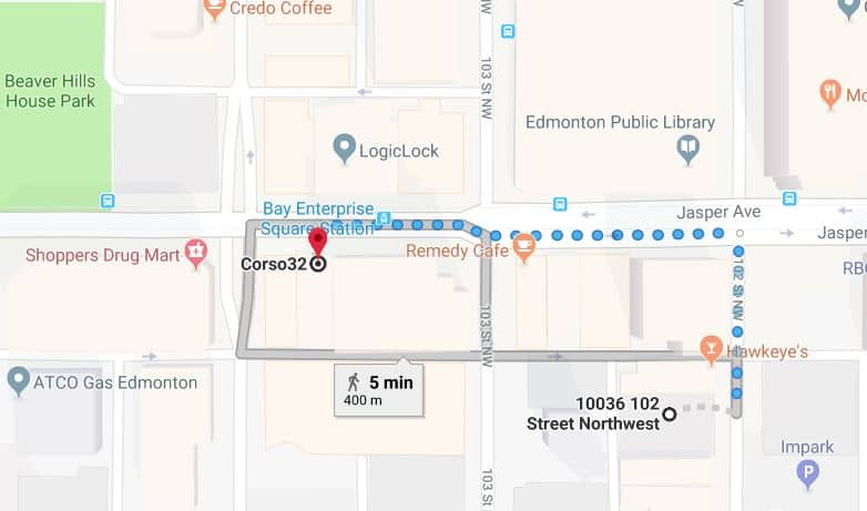 Central Car Park to Corso32 Edmonton Parking Guide
