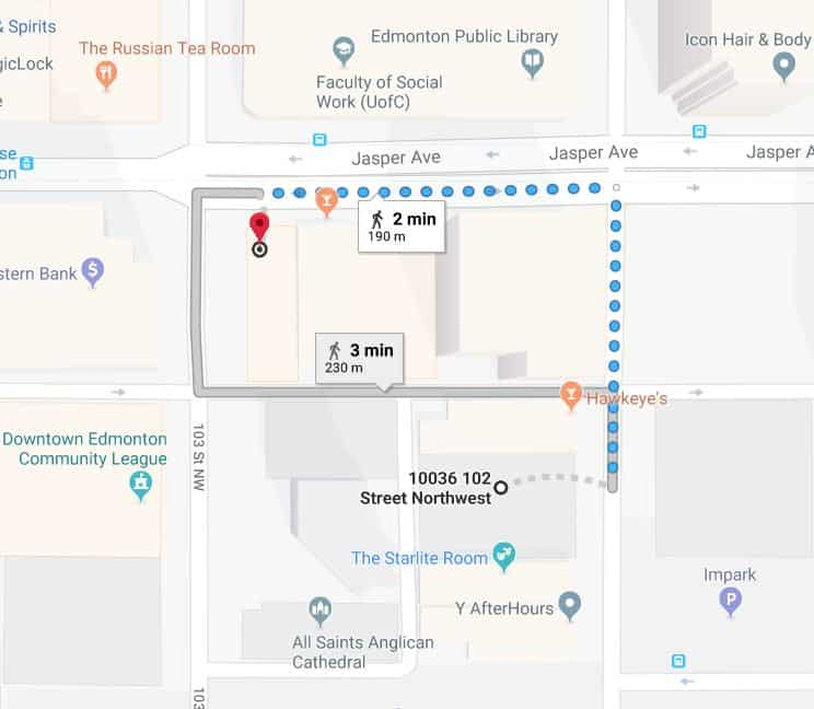 Central Car Park to Remedy Cafe Edmonton Parking Guide