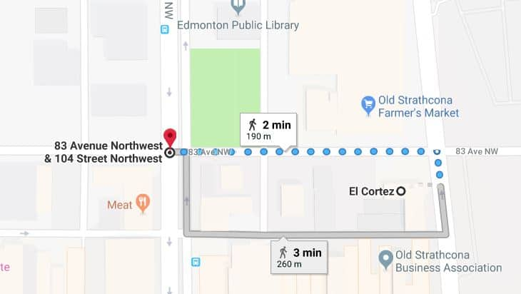 El Cortez to Edmonton Fringe Festival Edmonton Parking Guide