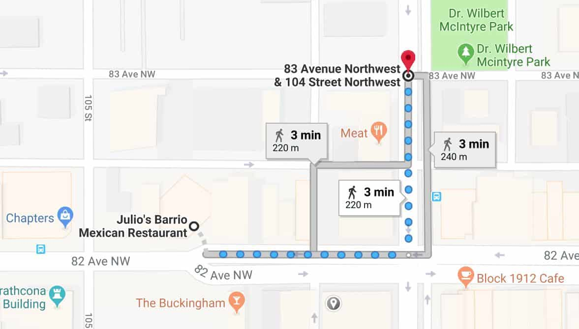 Julios Barrio to Edmonton Fringe Festival Edmonton Parking Guide