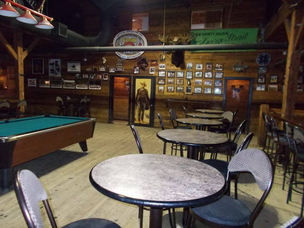 Pool Table Area at Cook County Saloon Edmonton