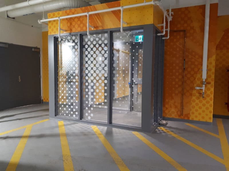 Ice District Central Parkade - P1A Pay Station Entrance by Edmonton Parking Guide