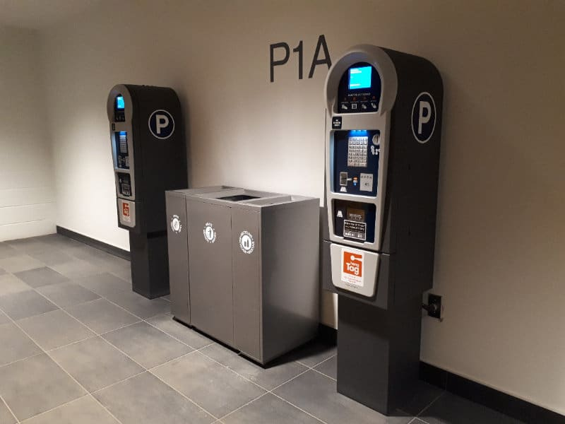 Ice District Central Parkade - P1A Pay Stations by Edmonton Parking Guide