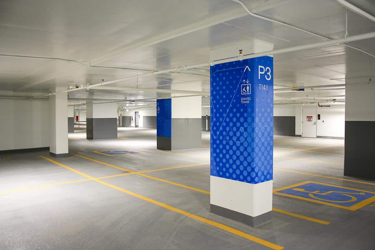 P3 Zone T at Ice District Central Parkade by Edmonton Parking Guide